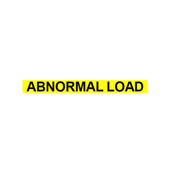 Abnormal Load Text 70mm