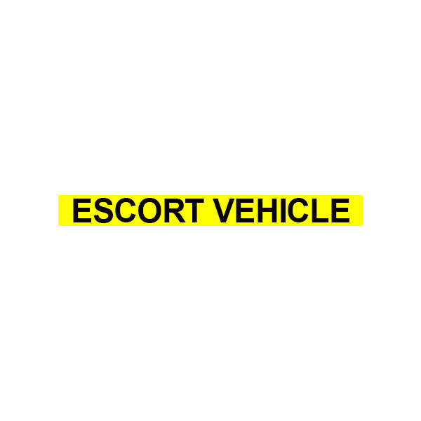 Escort Vehicle Text 70mm