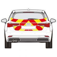 C8 Oralite 5400 Red & ORACAL 7510 RapidAir Fluo Yellow Audi A3 Hatch 2015