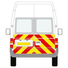 C8 3MDG Red & 3M Saturn Fluo Yellow Ford Transit High Roof 2000-2013 Half Rear Kit