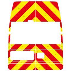 C8 Avery V8000 Red & Orafol 7510 Fluo Yellow  Ford Transit High Roof 2000-2013 Full Glazed Kit