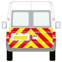 C8 Nikkalite FEG Red & HI-SCAL Fluo Yellow Ford Transit Medium Roof 2000-2013 Half Rear Kit