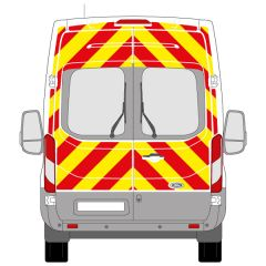 C8 3MDG Red & 3M Saturn Fluo Yellow Ford Transit High Roof 2014+ Full Glazed Kit