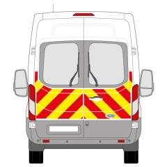 C8 Oralite 5400 Red & ORACAL 7510 RapidAir Fluo Yellow Ford Transit High Roof 2014 Half Rear Kit