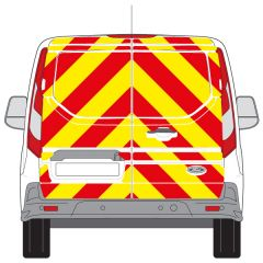 C8 3MDG Red & 3M Saturn Fluo Yellow Ford Transit Connect Low Roof 2014 + Full Rear Kit