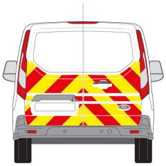 C8 3MDG Red & 3M Saturn Fluo Yellow Ford Transit Connect Low Roof 2014 + Half Rear Kit