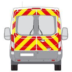 C8 Nikkalite Crystal Grade Red & HI-SCAL Fluo Yellow Ford Transit Medium Roof 2014+ Full Glazed Kit