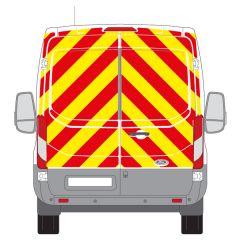 C8 Nikkalite Crystal Grade Red & HI-SCAL Fluo Yellow Ford Transit Medium Roof 2014+ Full Rear Kit