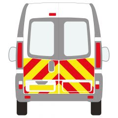 C8 Oralite 5960 Red & ORACAL 7510 RapidAir Fluo Yellow Renault Trafic High Roof 2001  Half Rear Kit