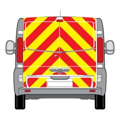 C8 Oralite 5960 Red & ORACAL 7510 RapidAir Fluo Yellow Renault Trafic Low Roof Tail gate 2001 Full Rear Kit