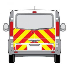 C8 Oralite 5960 Red & ORACAL 7510 RapidAir Fluo Yellow Renault Trafic Low Roof Tail gate 2001 Half Rear Kit