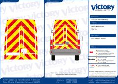 C8 Oralite 5960 Red & ORACAL 7510 RapidAir Fluo Yellow Iveco Daily High Roof 2000- 2005 Full Rear Kit