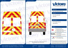 C8 Oralite 5960 Red & ORACAL 7510 RapidAir Fluo Yellow Iveco Daily High Roof 2000- 2005 Full Glazed Kit