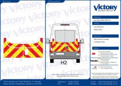 C8 Oralite 5960 Red & ORACAL 7510 RapidAir Fluo Yellow Iveco Daily Medium Roof 2014 Half Rear Kit