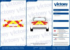 C8 3MDG Red & 3M Saturn Fluo Yellow Audi A6 Saloon 2004 2011 Full Coverage Below Windows