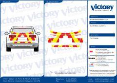 C8 Oralite 5960 Red & ORACAL 7510 RapidAir Fluo Yellow Audi A6 Avant Estate 2014