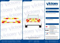 C8 Avery V8000 Red & Orafol 7510 Fluo Yellow BMW 3 Series Estate 2012 Full Coverage Below Windows