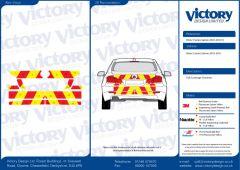 C8 3MDG Red & 3M Saturn Fluo Yellow BMW 5 Series Saloon 2003-2010 Full Coverage Below Windows