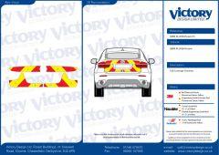 C8 3MDG Red & 3M Saturn Fluo Yellow BMW X6 Series 2008 Full Coverage Below Windows