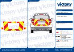C8 Avery V8000 Red & Orafol 7510 Fluo Yellow Chevrolet Captiva 2006-2011 Full Coverage Below Windows