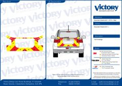 C8 Avery V8000 Red & Orafol 7510 Fluo Yellow Chevrolet Orlando 2011 Full Coverage