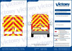 C8 Oralite 5960 Red & ORACAL 7510 RapidAir Fluo Yellow Citroen Relay High Roof 2006 Full Rear Kit