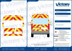 C8 Oralite 5960 Red & ORACAL 7510 RapidAir Fluo Yellow Citroen Relay High Roof 2006 Full Glazed Kit