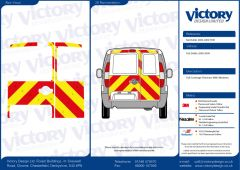 C8 Oralite 5960 Red & ORACAL 7510 RapidAir Fluo Yellow Fiat Doblo Standard Roof 2011  Full Glazed Kit