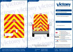 C8 Oralite 5960 Red & ORACAL 7510 RapidAir Fluo Yellow Fiat Ducato High Roof 2006  Full Rear Kit