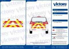C8 Avery V8000 Red & Orafol 7510 Fluo Yellow Ford Galaxy 2006   Full Coverage Below Windows