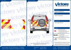 C8  Nikkalite FEG Red & HI-SCAL Fluo Yellow Honda CRV 2002-2006  Full Coverage Below Windows