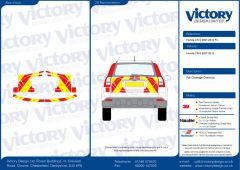 C8 Oralite 5960 Red & ORACAL 7510 RapidAir Fluo Yellow Honda CRV 2007-2012