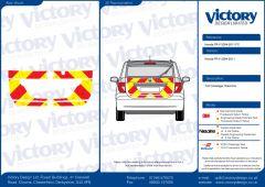 C8  Nikkalite FEG Red & HI-SCAL Fluo Yellow Honda FR-V 2004 - 2011 Full Coverage Below Windows