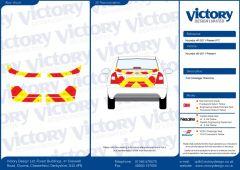 C8  Nikkalite FEG Red & HI-SCAL Fluo Yellow Hyundai I40 2011 Full Coverage Below Windows