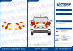 C8  Nikkalite FEG Red & HI-SCAL Fluo Yellow Hyundai Santa-Fe 2007 - 2012 Full Coverage Below Windows