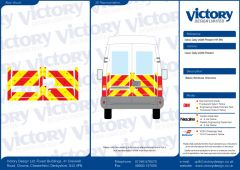 C8 Oralite 5960 Red & ORACAL 7510 RapidAir Fluo Yellow Iveco Daily High Roof 2006 Half Rear Kit