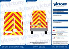 C8 Oralite 5960 Red & ORACAL 7510 RapidAir Fluo Yellow Iveco Daily High Roof 2006 Full Rear Kit