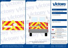 C8 Oralite 5960 Red & ORACAL 7510 RapidAir Fluo Yellow Iveco Daily Standard Roof 2006 Half Rear Kit