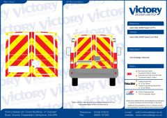 C8 Oralite 5400 Red & ORACAL 7510 RapidAir Fluo Yellow Iveco Daily Standard Roof 2006 Full Rear Kit