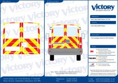 C8 Oralite 5960 Red & ORACAL 7510 RapidAir Fluo Yellow Iveco Daily Standard Roof 2006 Full Glazed Kit