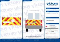 C8 Oralite 5400 Red & ORACAL 7510 RapidAir Fluo Yellow Iveco Daily Medium Roof 2006 Half Rear Kit