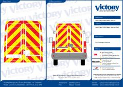 C8 Oralite 5400 Red & ORACAL 7510 RapidAir Fluo Yellow Iveco Daily Medium Roof 2006 Full Rear Kit