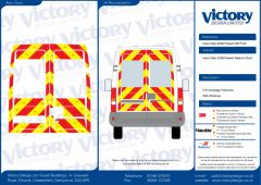 C8 3MDG Red & 3M Saturn Fluo Yellow Iveco Daily Medium Roof 2006 Full Glazed Kit