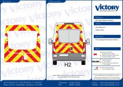 C8 Oralite 5960 Red & ORACAL 7510 RapidAir Fluo Yellow Iveco Daily Medium Roof 2014 Full Glazed Kit