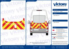 C8 Oralite 5960 Red & ORACAL 7510 RapidAir Fluo Yellow Iveco Daily High Roof 2014 Half Rear Kit