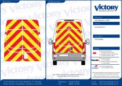C8 Oralite 5960 Red & ORACAL 7510 RapidAir Fluo Yellow Iveco Daily High Roof 2014 Full Rear Kit