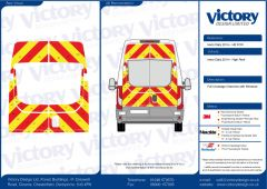 C8 Oralite 5960 Red & ORACAL 7510 RapidAir Fluo Yellow Iveco Daily High Roof 2014 Full Glazed Kit