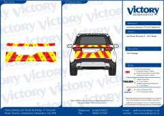 C8 3MDG Red & 3M Saturn Fluo Yellow Land Rover Discovery 5 2017 Model Full Rear