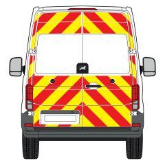 C8 Avery V8000 Red & Orafol 7510 Fluo Yellow MAN TGE 2017  Full Glazed