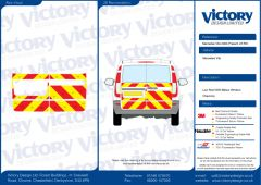 C8 Oralite 5960 Red & ORACAL 7510 RapidAir Fluo Yellow Mercedes Vito Standard Roof 2003  Half Rear Kit